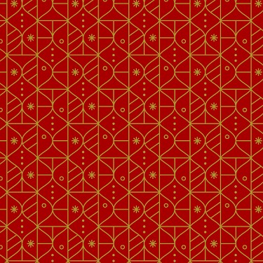 Ornament Stripe in Red Metallic