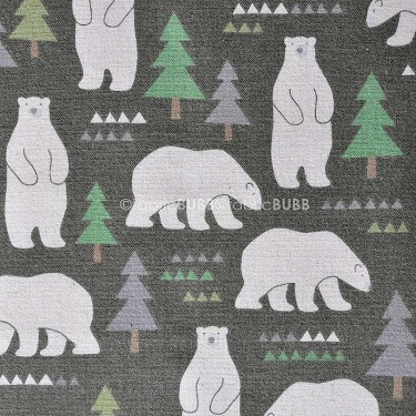 Nordic Bears in Charcoal