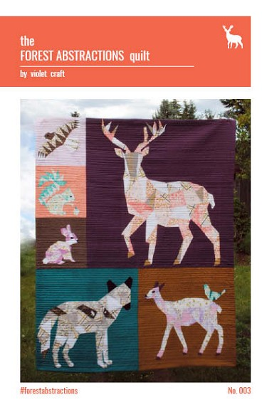 The Forest Abstractions Quilt by Violet Craft