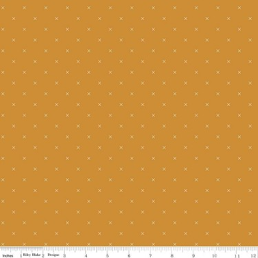 Cross Stitch in Butterscotch