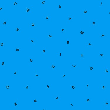 Letters in Bright Blue